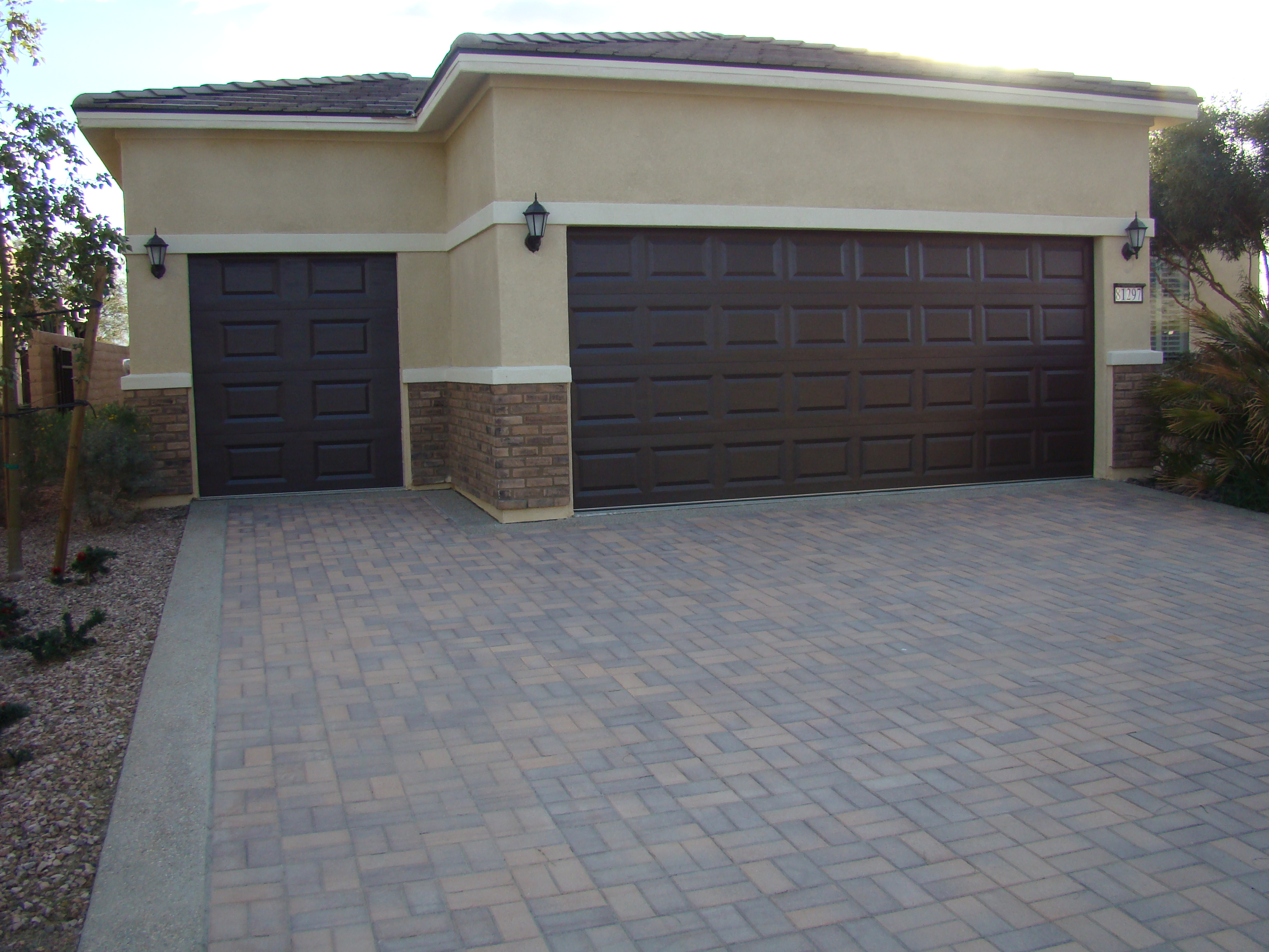 Golf cart garage bestplace55plus 2 car garage doors